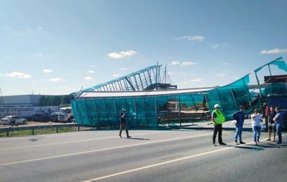 Рухнувший мост парализовал движение на Ярославском шоссе