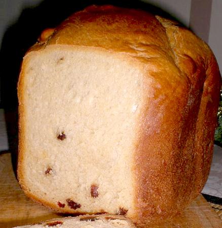 Рецепт сдобного пирога с изюмом для хлебопечки