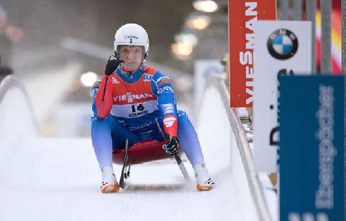 Российский саночник Репилов занял третье место на этапе Кубка мира в Калгари