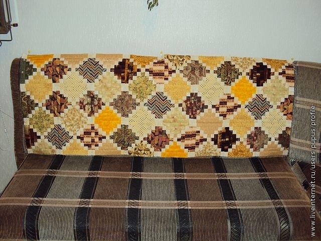 примеряем полотно на диван