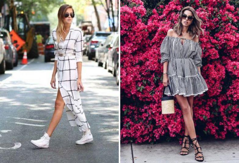 повседневные летние образы 2018 с платьем