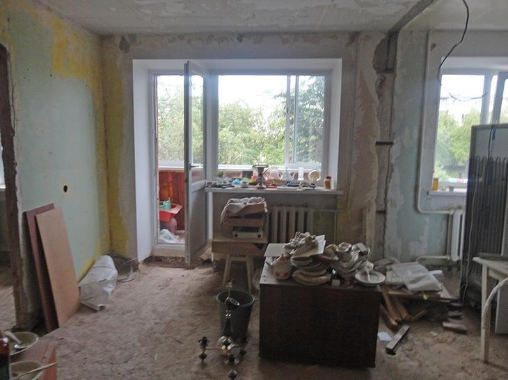 Ремонт в хрущевке с объединением кухни и гостиной