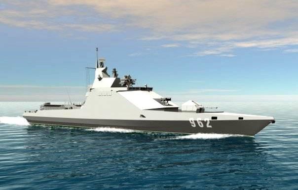 Сторожевой корабль проекта 22500. Инфографика