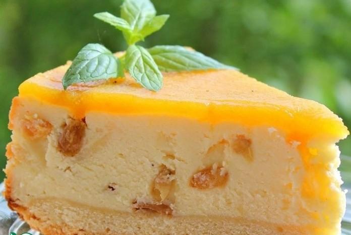 Готовим сливочный пирог с творогом с яблочным послевкусием!