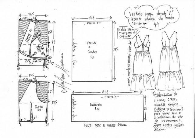 Длинное летнее платье с V-образным вырезом и воланом