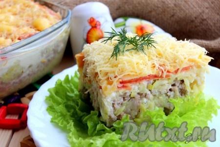 Рецепт запеканки из кабачков с фаршем