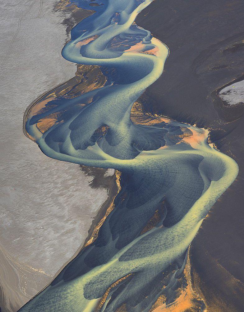 Захватывающие образы исландских рек красота, ледник, реки