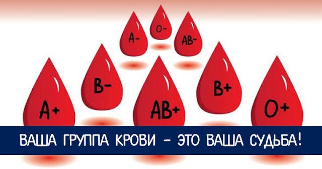 Ваша группа крови - это ваша судьба!