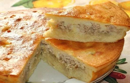 Наливной пирог с курицей на кефире - невероятное блюдо за 30 минут