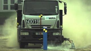 Барьер для принудительной остановки грузовиков, краш-тест
