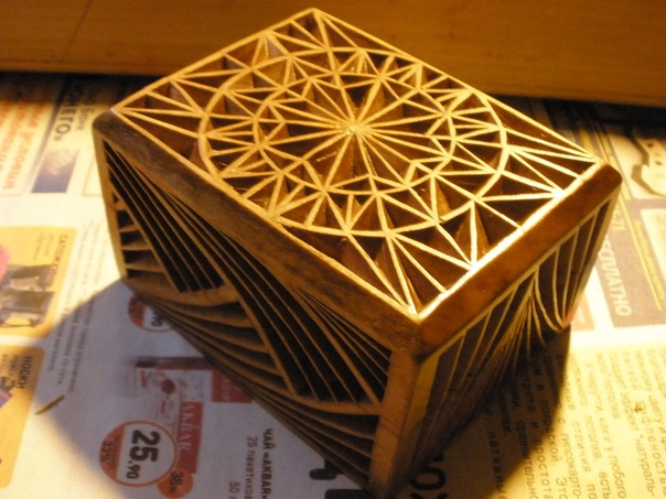шкатулка геометрические рисунки для резьбы по дереву