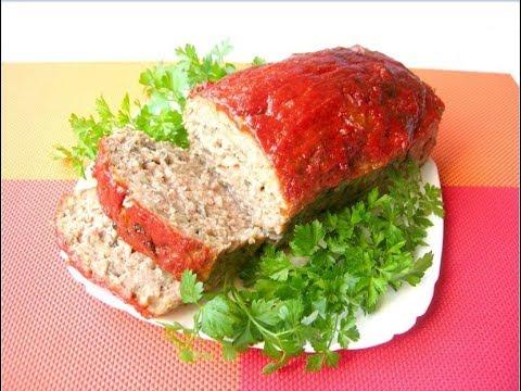 """Оригинальная закуска """"Мясной хлеб"""" с грибами"""