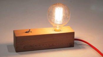 МАСТЕРИЛКА. Настольная лампа Эдисона