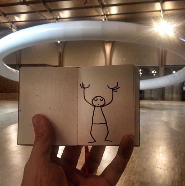 Нарисовал себе друга #друг, #искусство, #творчество, #идея, #креатив