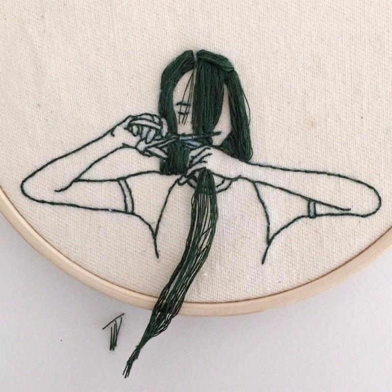 Вот такая она - современная вышивка. Оцените творчество!