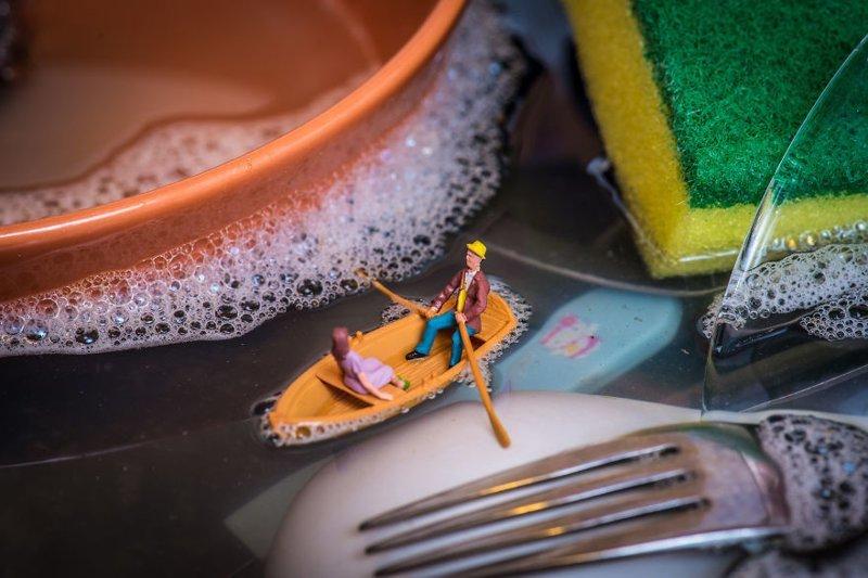 """Раковина-озеро"" инсталляции, искусство, креатив, миниатюры, необычно, творчество, фото, фотограф"
