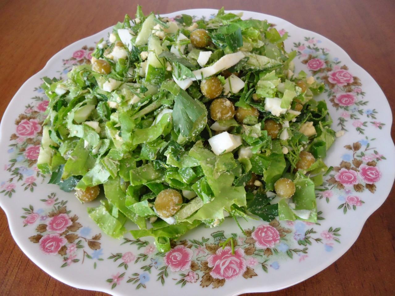 Зеленый салат.