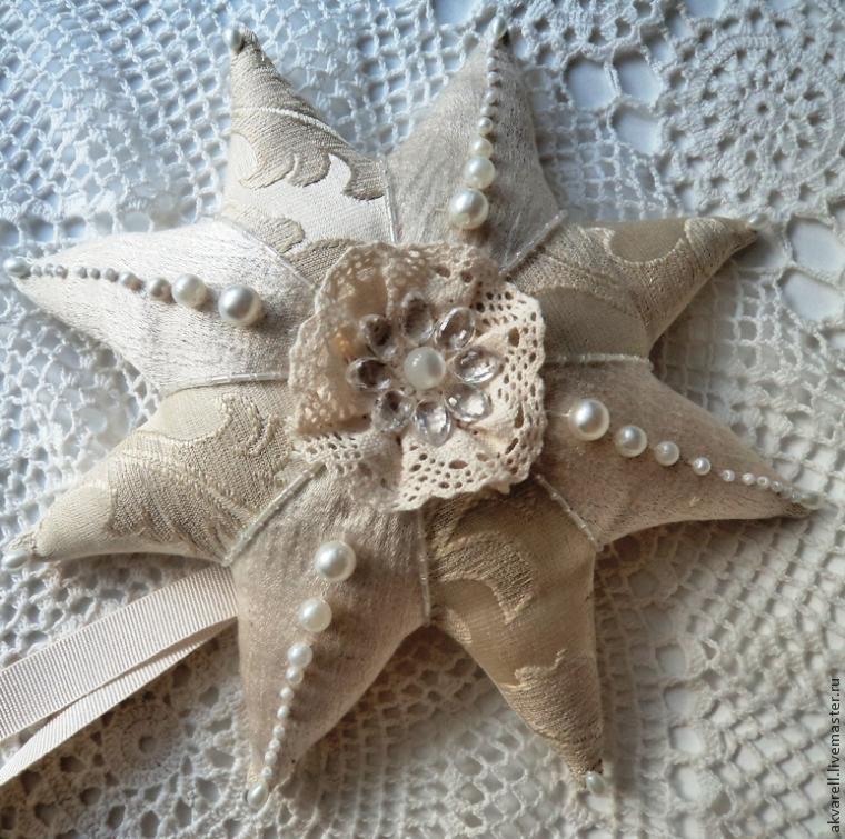 Шьем рождественскую звезду на верхушку елки