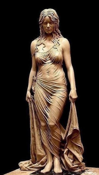 Скульптура из глины! Поразительно!