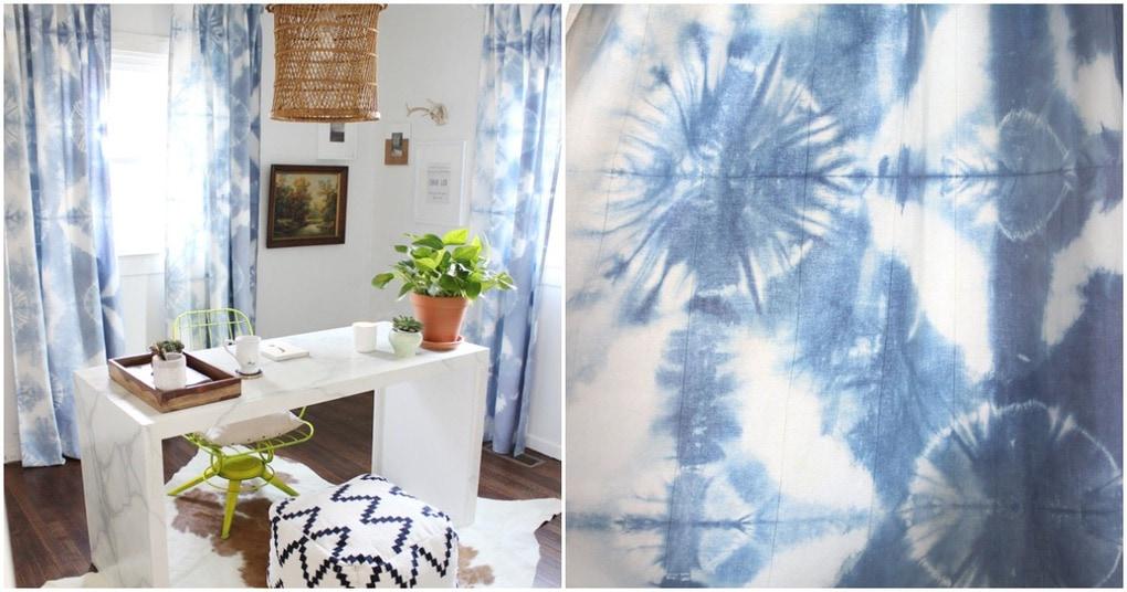 Сложить, свернуть, покрасить: необычный способ оформления штор для дома