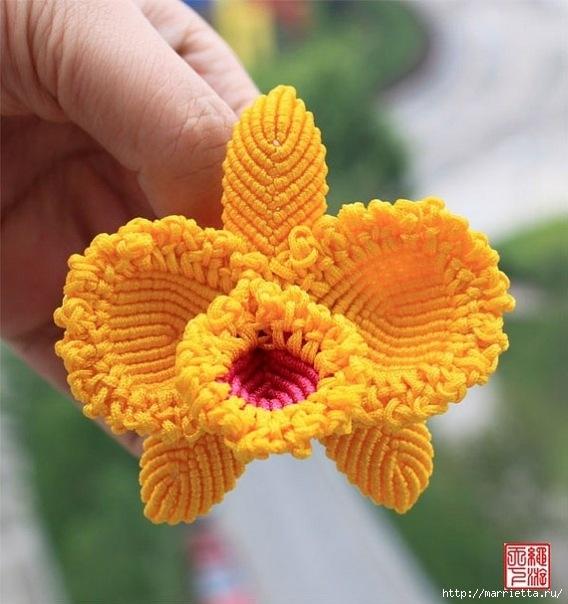 Цветы в технике китайского макраме (18) (568x604, 184Kb)