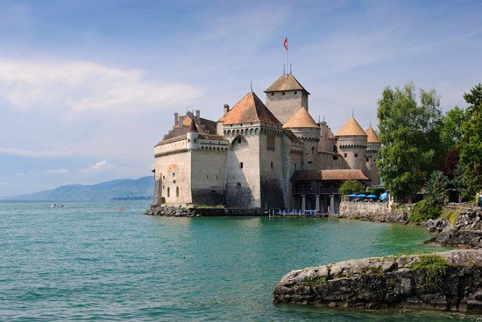 Шильонский замок, Швейцария.