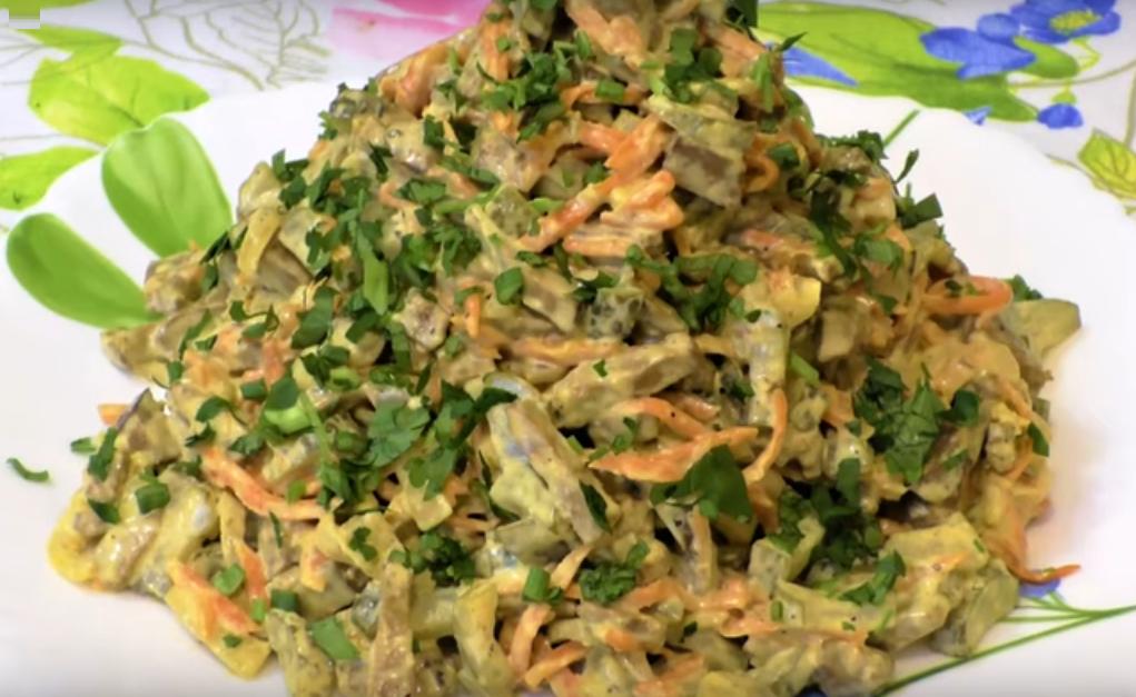 Аппетитный печеночный салат
