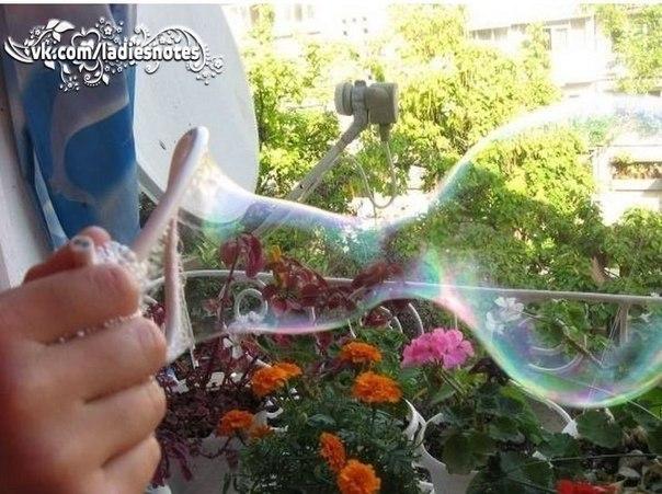 «Крепкие» мыльные пузыри своими руками