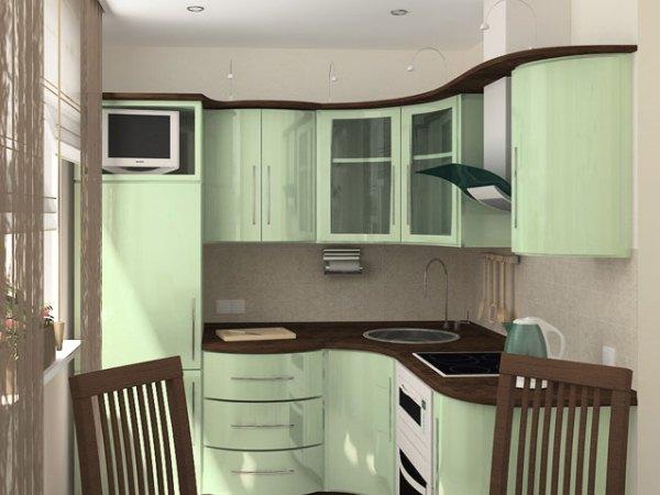 Кухни в хрущевке с колонкой дизайн малогабаритные 6 кв.м