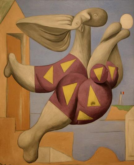 Пабло Пикассо. Купальщик с мячом на пляже. 1932 год