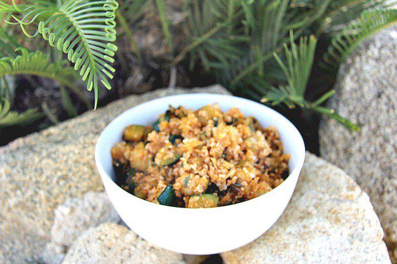 Изображение рецепта «Рис» из цветной капусты с кабачками