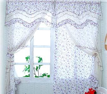 Красивые летние шторы из ситца: необычно, практично, дешево.