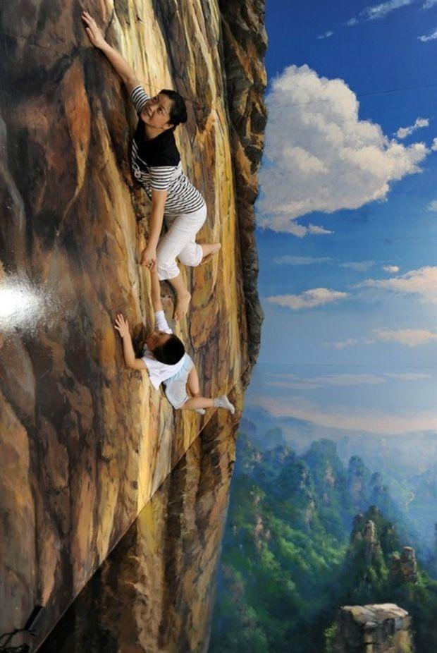 Интерактивные трехмерные картины в художественной галерее города Шэньян (Китай)