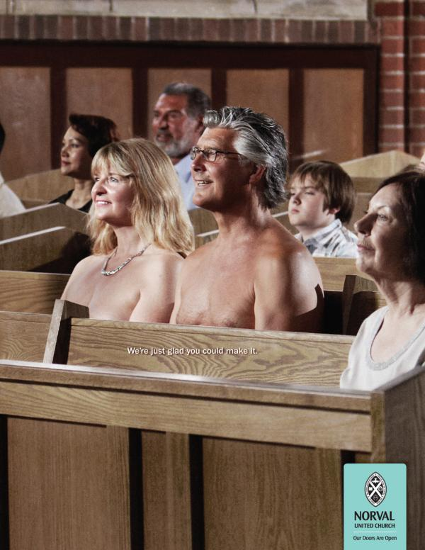 The United Church of Canada: Nudists, The United Church Of Canada, Smith Roberts Creative Communications, Печатная реклама