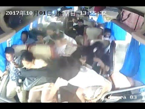 Столкновение автобусов в Китае