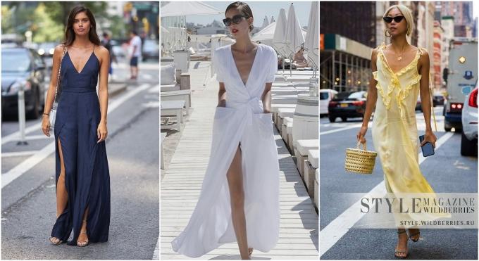 Летний хит: Выбираем актуальное макси-платье с декольте!