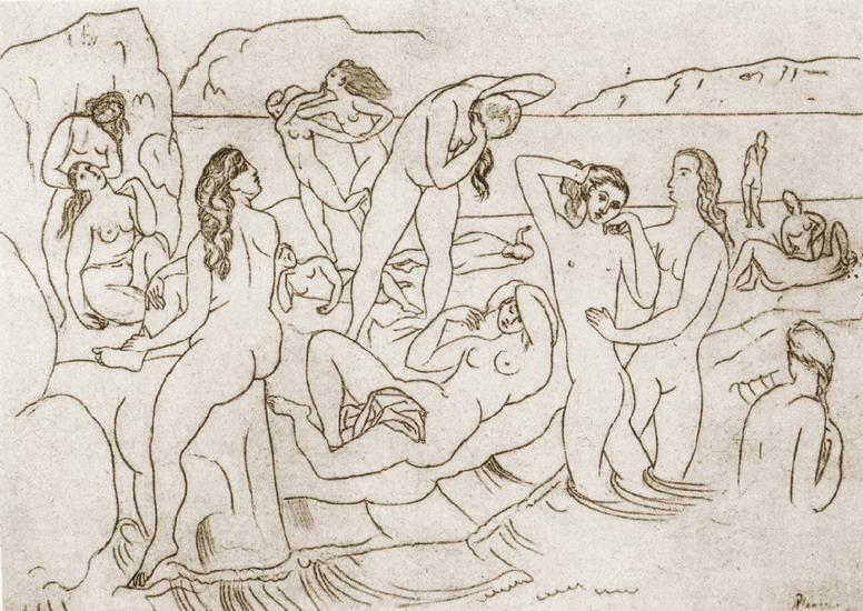 Пабло Пикассо. Купальщицы. 1927 год