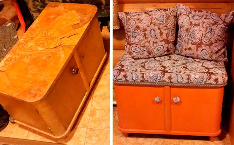 Как можно  попробовать переделать старую мебель, дать вторую жизнь!