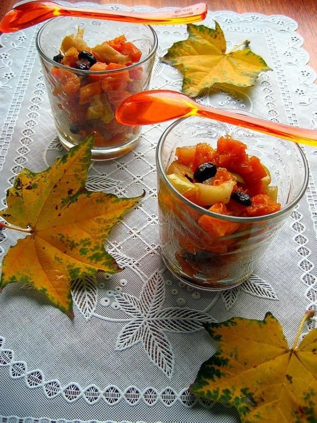 """Её величество тыква! Десерт из тыквы и яблок """"Осенний поцелуй"""""""