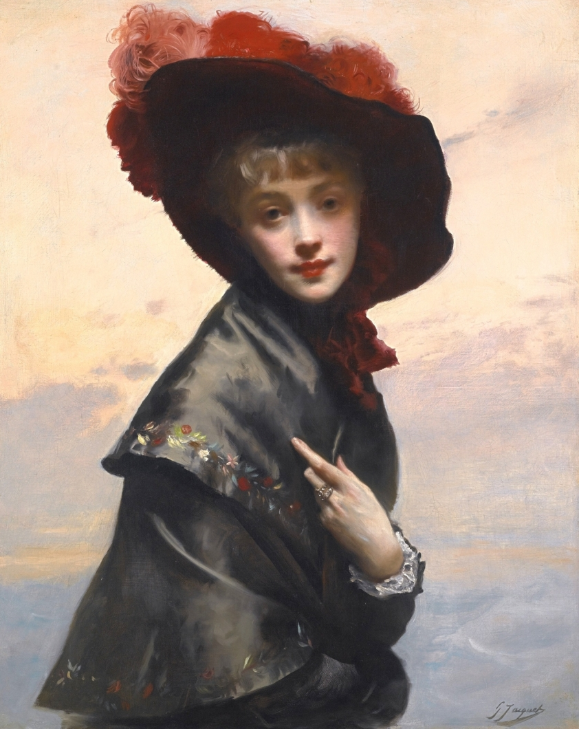 Прекрасные мадемуазель на картинах Гюстава Жана Жаке