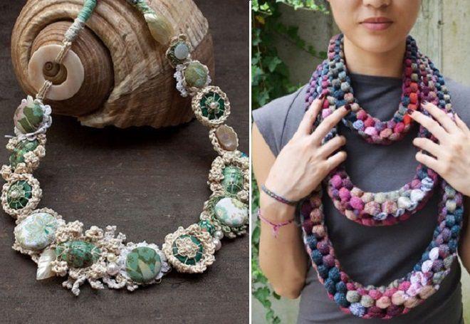 ожерелья из пряжи