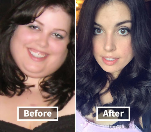 Как меняются лица людей после похудения