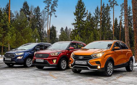 Лада XRAY Cross, Ford Ecosport и Creta: тест кроссоверов