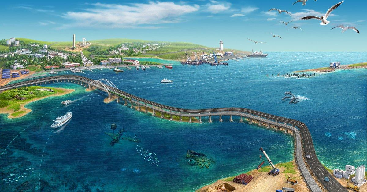 Стройка века: до начала пешеходного движения по Крымскому мосту осталось установить один пролёт