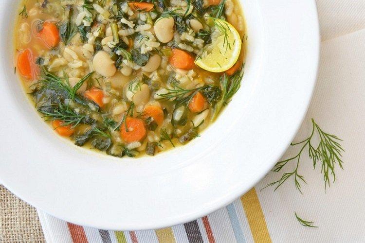 Веганский рисовый суп