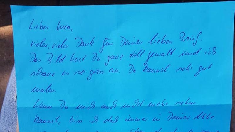 Мальчик отправил письмо умер…