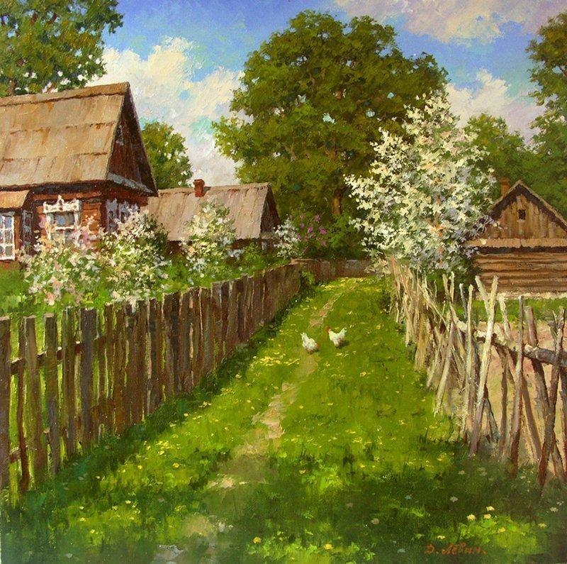 Деревня на полотнах современных художников