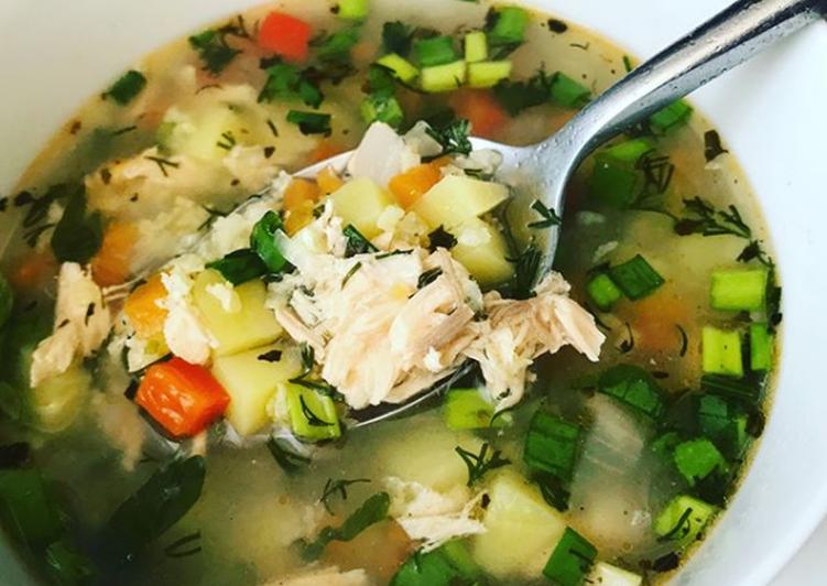 Вкусный и быстрый рыбный суп с семгой