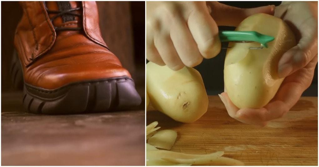 Тандем картофеля с обувью: доступный лайфхак, способный выручить в трудную минуту