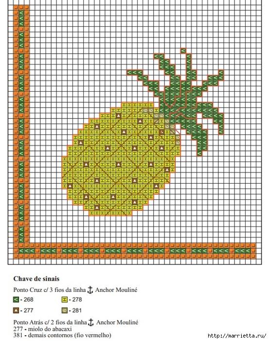 Цитрусовая вышивка для фартука и кухонного полотенца (2) (553x700, 366Kb)